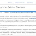 Philadelphia eviction diversion program announcement